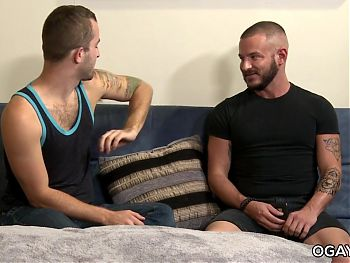 Raw gay threesome
